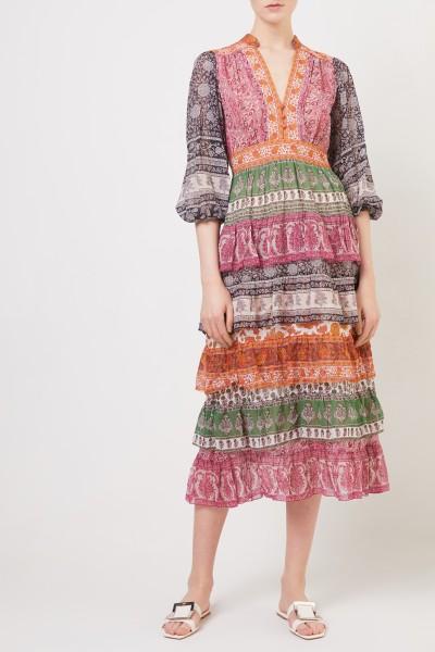 Zimmermann Baumwoll-Seiden-Kleid mit Print Multi