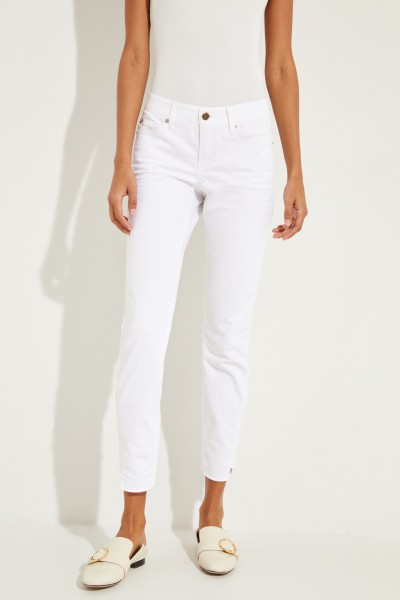 Jeans 'Liu' with frayed hem edges White