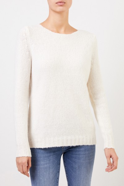 Allude Cotton mohair pullover White