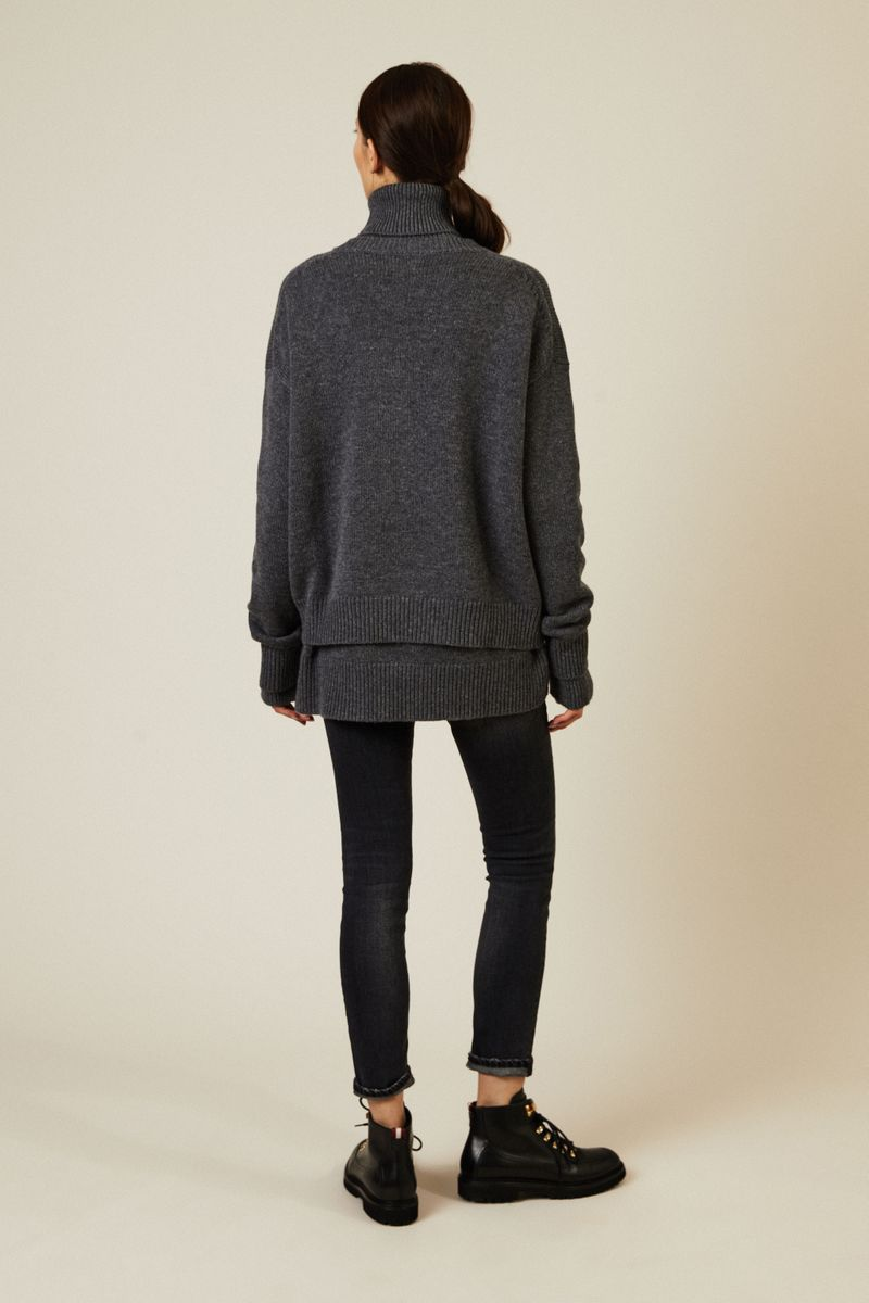 Woll-Cashmere-Pullover Anthrazit
