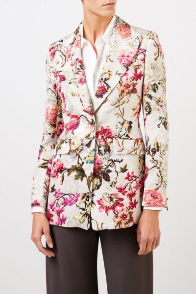 Etro Blazer mit floralem Print Beige/Multi