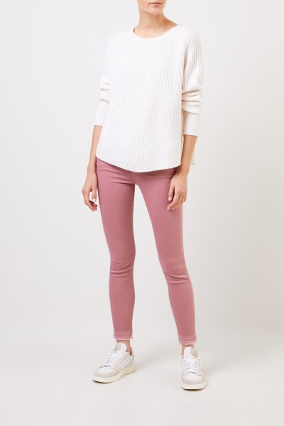 Wool cashmere pullover White
