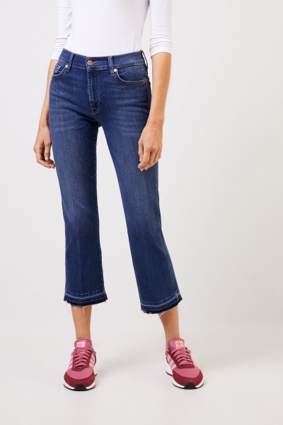 7 for all mankind Bootcut-Jeans 'Cropped Boot' Blau