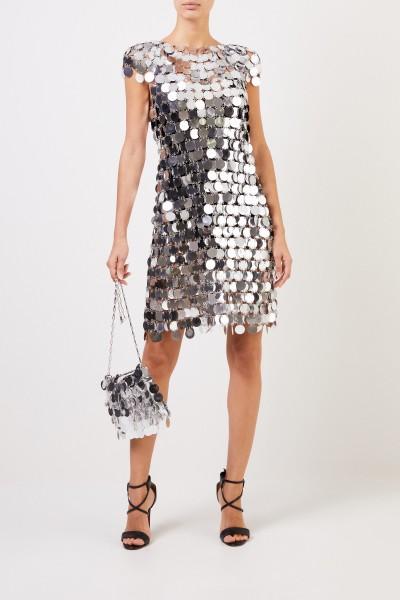 Short sequin dress Silver