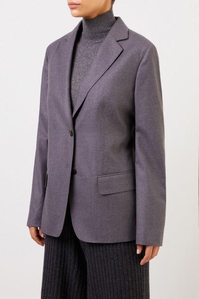 Agnona Klassischer Woll-Blazer Grau
