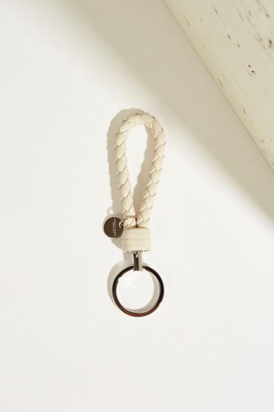 Geflochtener Schlüsselanhänger Grau