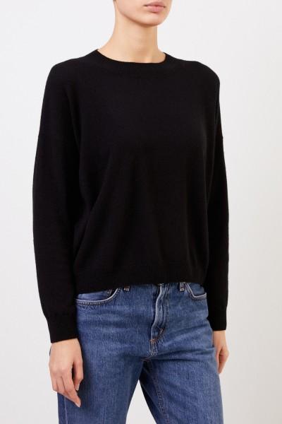Iris von Arnim Cashmere sweater 'Calanna' with round neck Black
