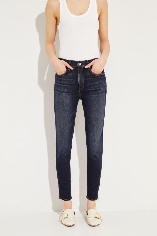 High Rise Ankle Jeans 'Riverdale' Dunkelblau