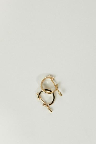 Ohrringe 'Chikka' mit Diamanten Gelbgold