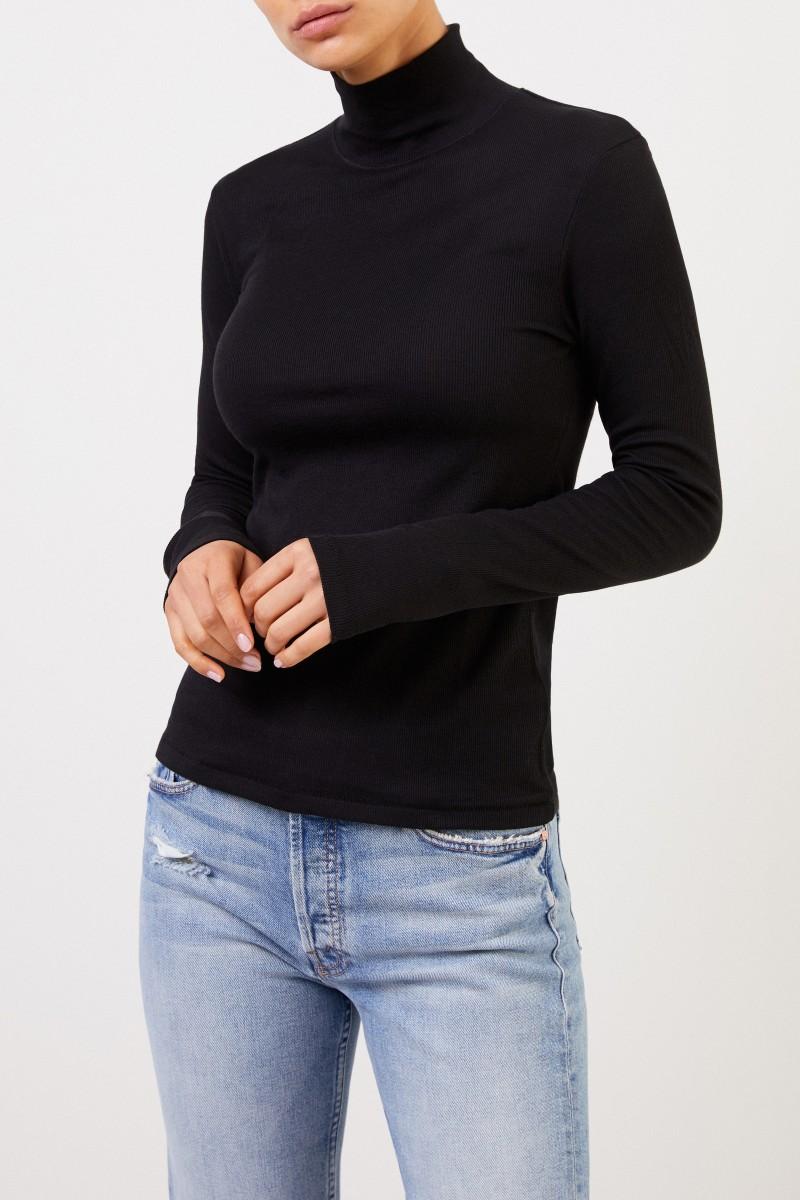 Rag&Bone Baumwoll-Pullover mit Turtleneck Schwarz
