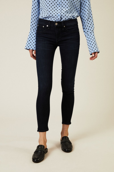 Skinny Jeans 'Lynnwood Capri' Dunkelblau