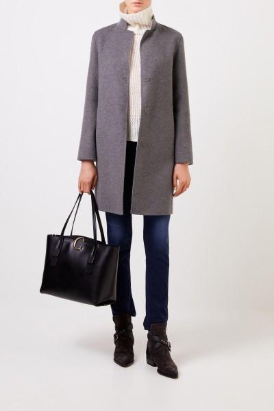 Classic cashmere-wool coat Grey