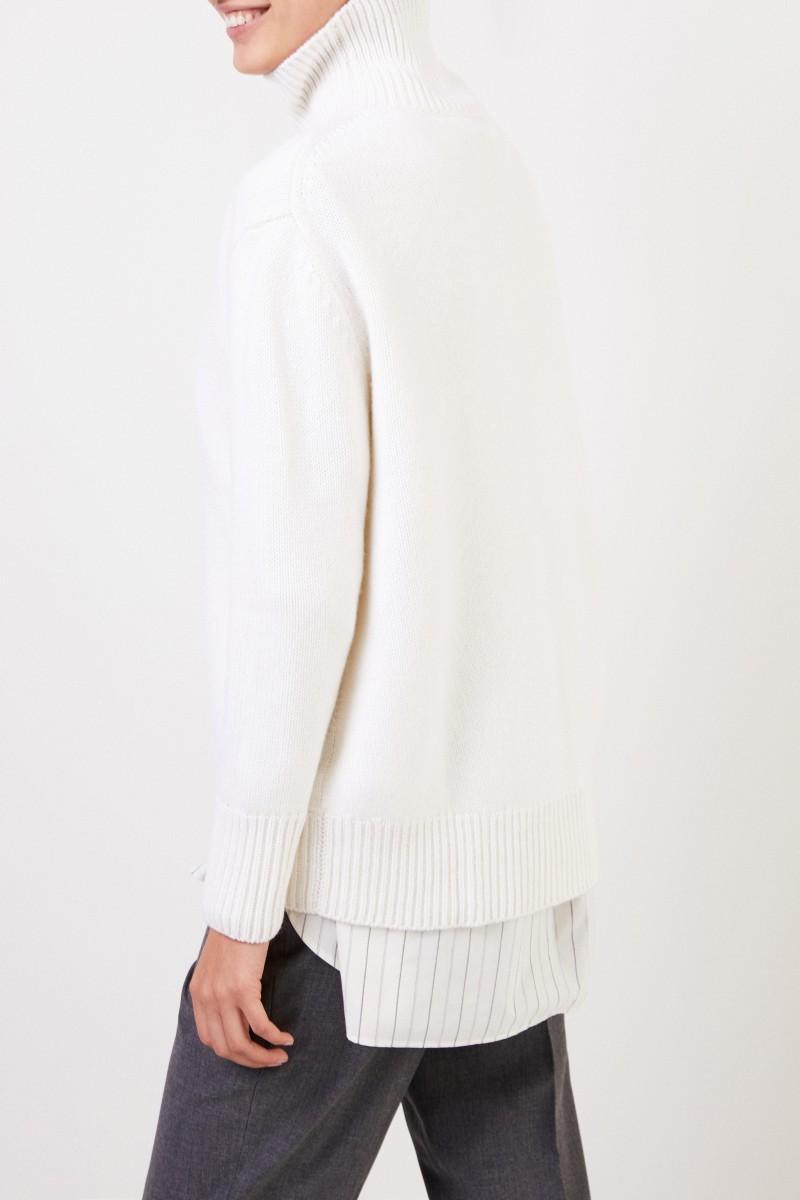 Allude Cashmere-Rollkragenpullover Weiß