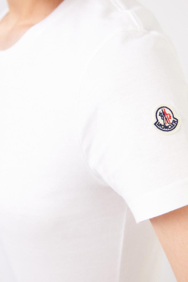 Moncler T-Shirt mit Logo-Patch Weiß