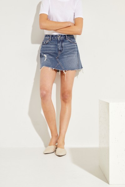 Denim skirt 'Eva Gusset' Blue