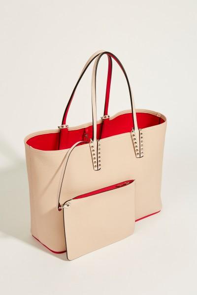 Christian Louboutin Shopper mit Nietendetails 'Cabata' Rosé