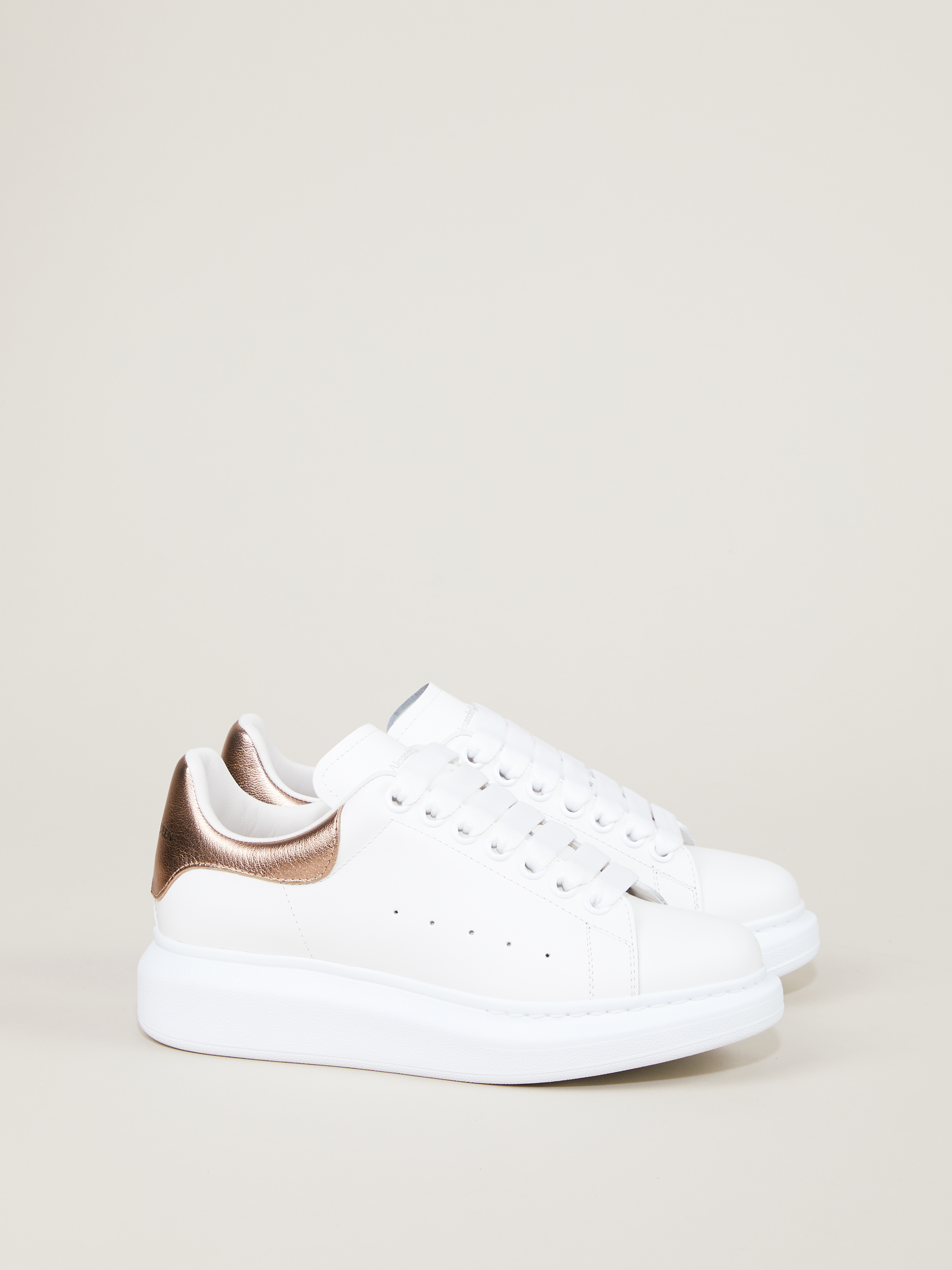 wide rubber sole White/Rose Gold | Sneakers