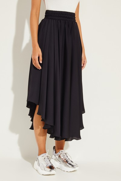 Midi-Skirt with elastic waistband Black