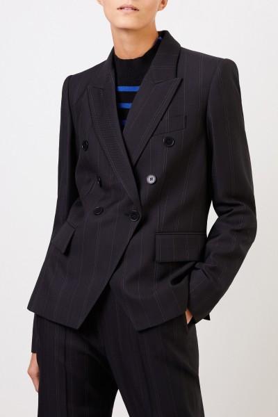 Stella McCartney Wool blazer with stripe detail Black