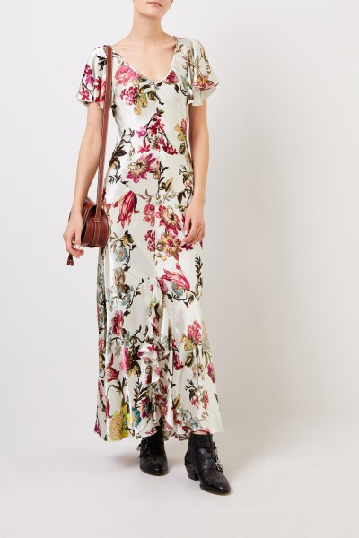 Etro Langes Kleid mit Print Multi