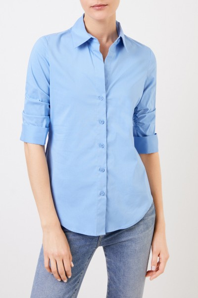 Steffen Schraut Classic Cotton Blouse with Gather Blue