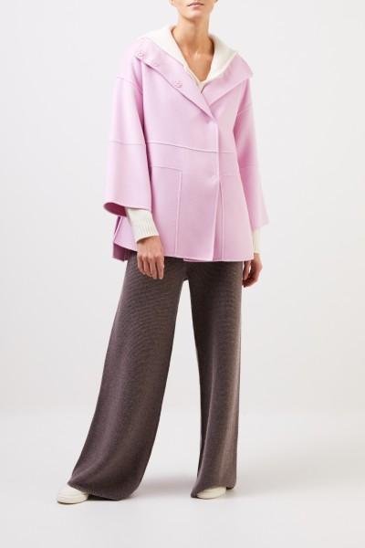Iris von Arnim Doubleface cashmere coat 'Brice' Light Pink