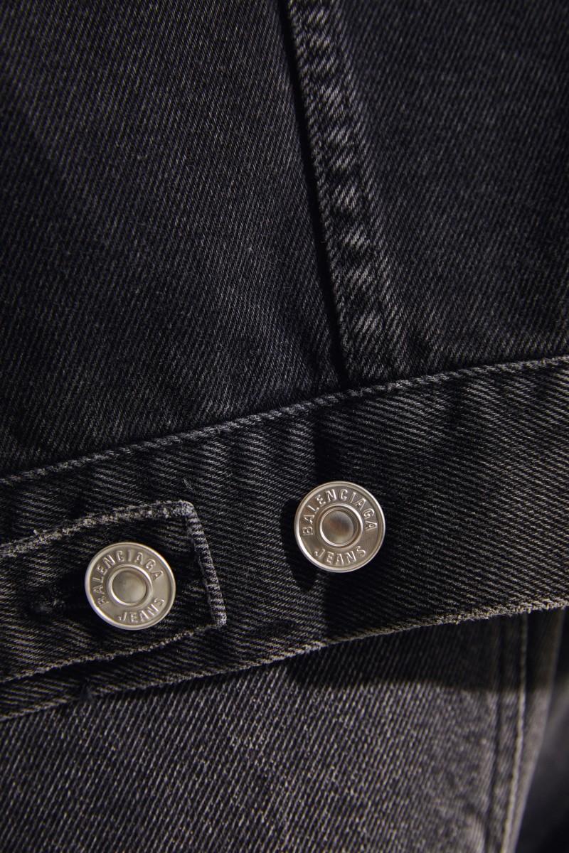 Jeansjacke mit Strasssteinen Schwarz