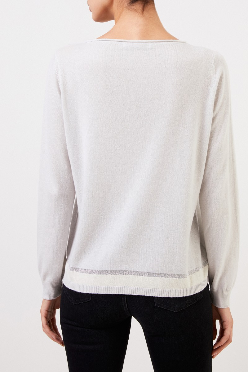 Fabiana Filippi Basic Pullover mit Lurex-Detail Sand