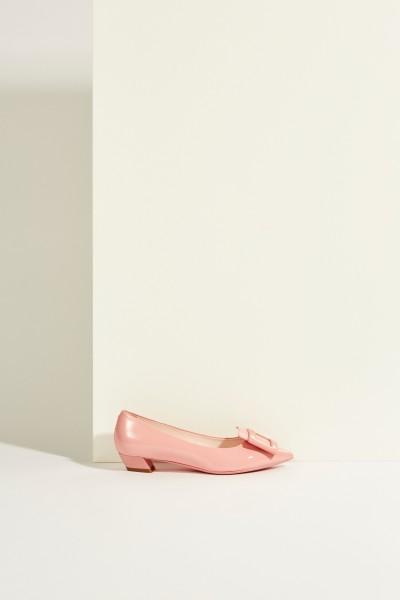 Patent leather Ballerinas 'Gommettine' Rosé