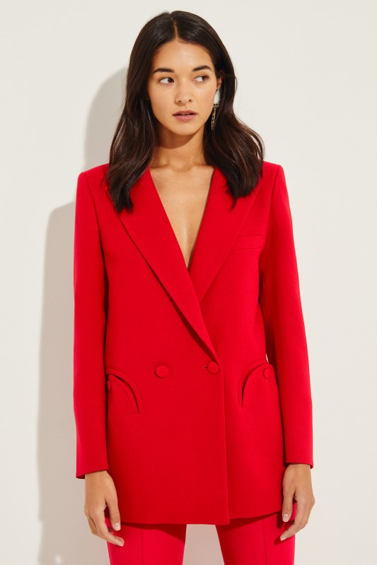 Woll-Blazer 'Cool & Easy Everyday' Rot