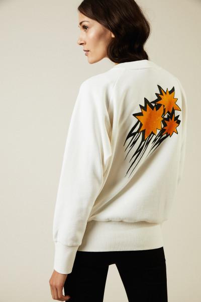Sweatshirt mit Aufdruck Weiß