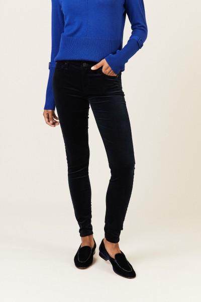 Samt-Jeans 'The Skinny' Blau