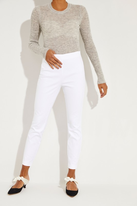 Elastische Hose 'Simone' Weiß