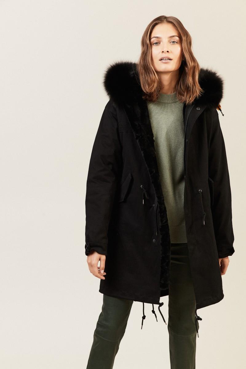 Mantel mit nerz innenfutter