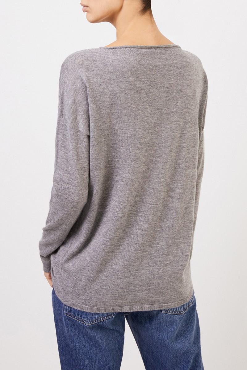 Iris von Arnim Feiner Cashmere-Pullover 'Laniv' Grau