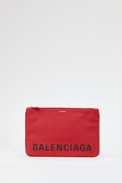 Balenciaga Clutch 'Ville Pouchette' Medium Red