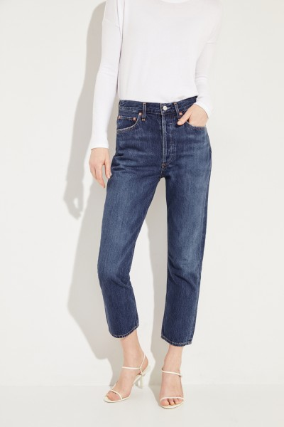 High Rise Jeans 'Riley' Blau