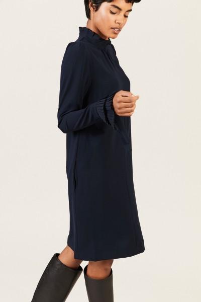 Kleid mit Plissee-Details Blau