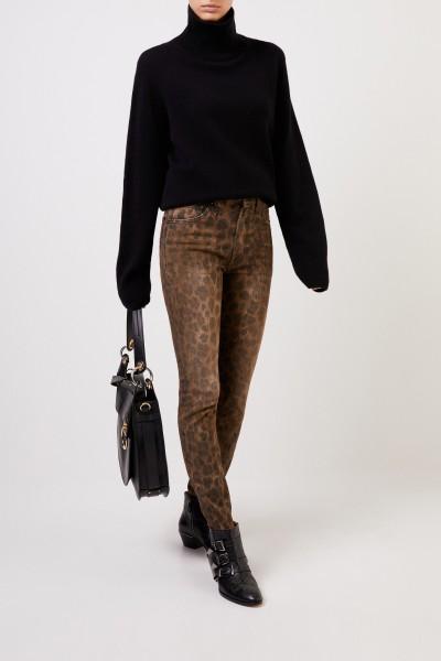 Skinny Jeans 'High Rise Skinny' Leopard