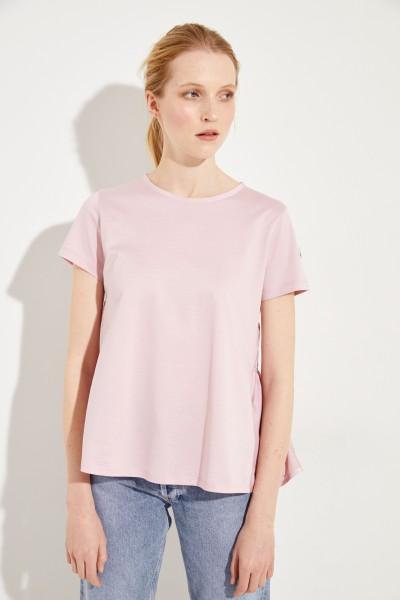 Baumwoll-Shirt mit rückseitigem Detail Rosé