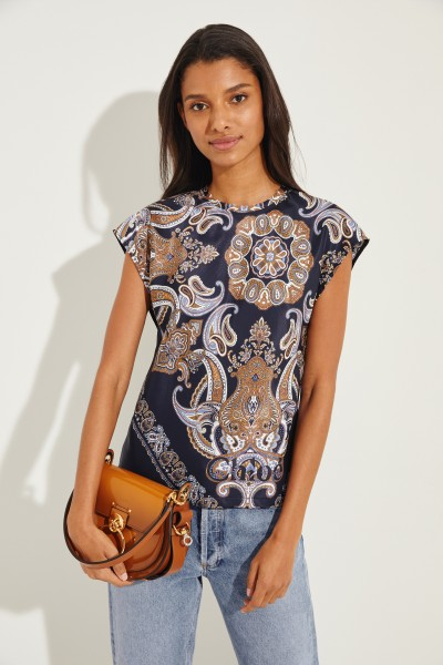 Bluse mit Paisley-Muster Multi