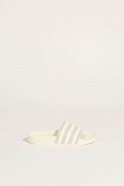 Sandale mit Streifenmuster 'Adilette' Weiß/Grau