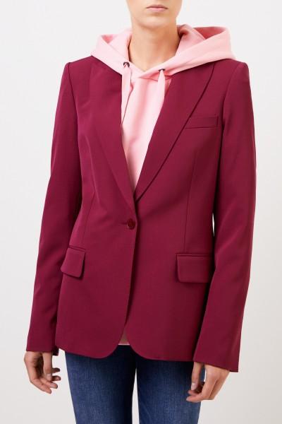 Stella McCartney Klassischer Long-Blazer Burgundy