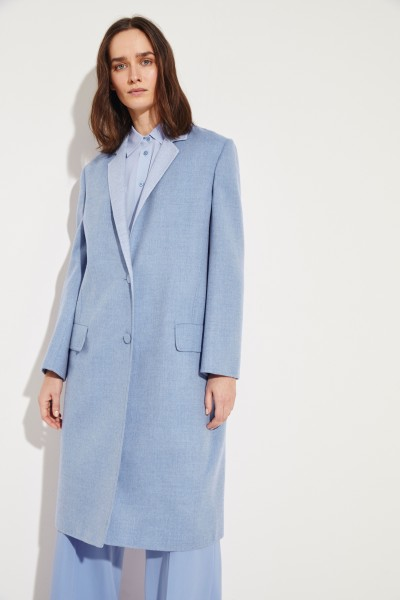 Cashmere coat Light Blue