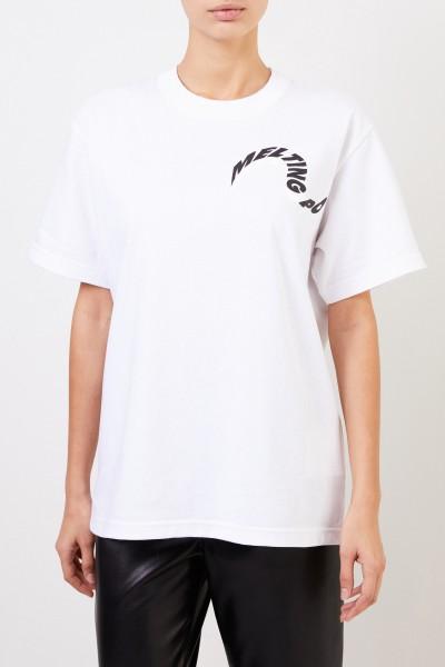 Sacai T-Shirt 'Melting Pot' Weiß