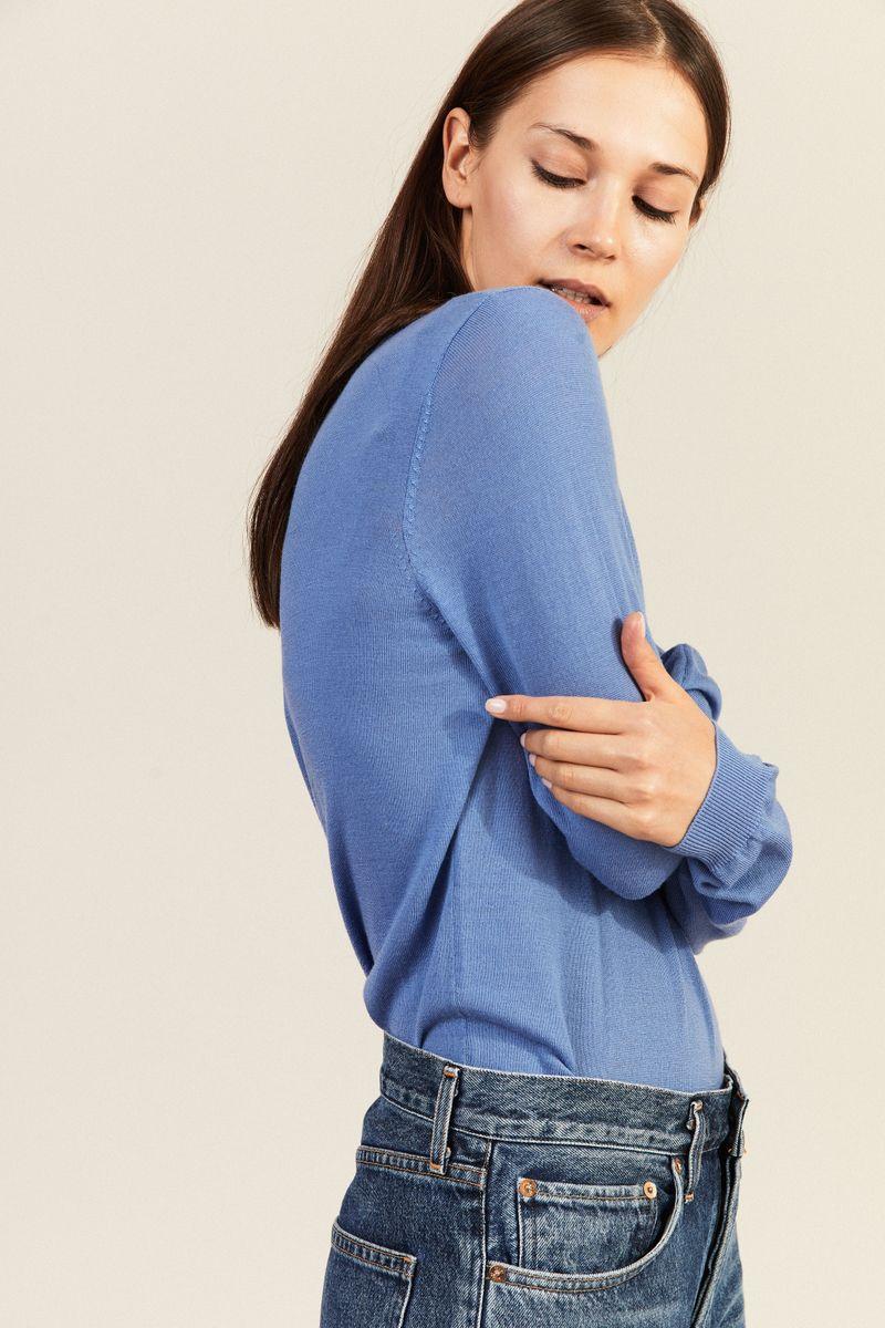 Woll-Pullover Blau