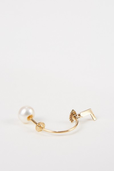 Delfina Delettrez Earring 'Micro Eye L' Yellow Gold