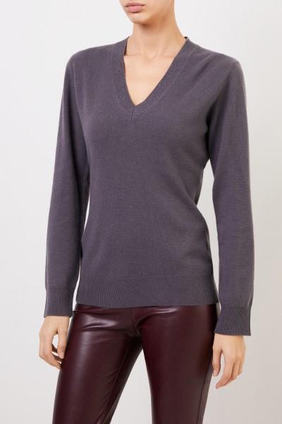 Fabiana Filippi Woll-Seiden-Pullover mit Lurex-Detail Graphit