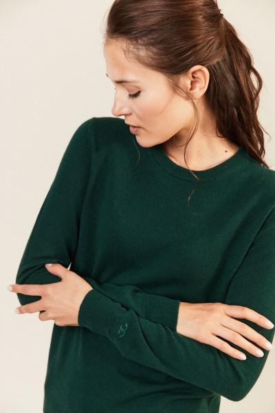 Cashmere-Pullover 'Bella' Grün