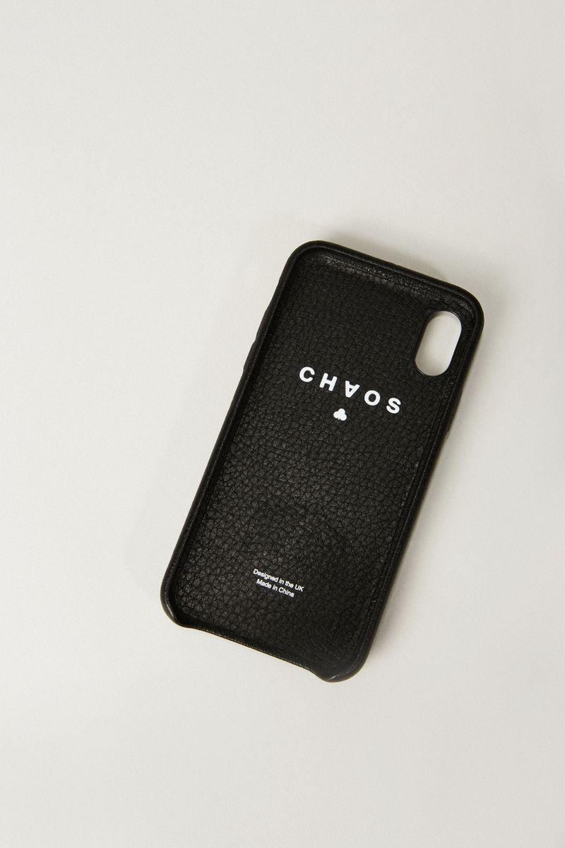 Iphone Case X mit rückseitiger Applikation Schwarz
